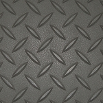 Charcoal RoughTex Diamond Deck® Roll Out Flooring